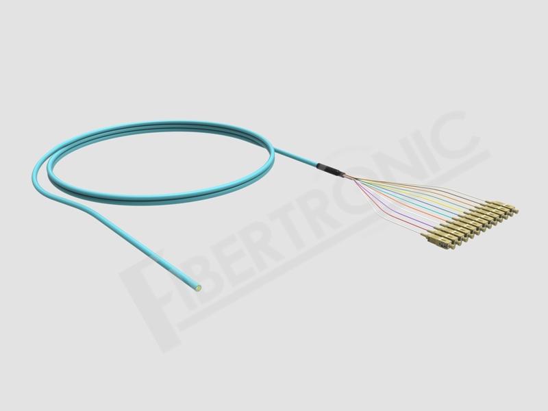 Multi Fibers Pigtail Distribution 12F OM3 SC